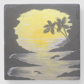 Sunrise Cave Stone Coaster