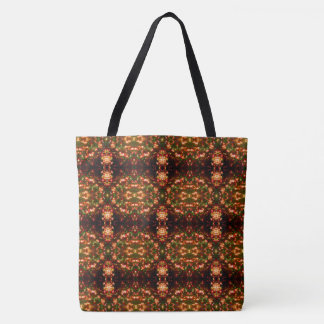 Sunrise Christmas Lights Pattern 6 Bright Large Tote Bag