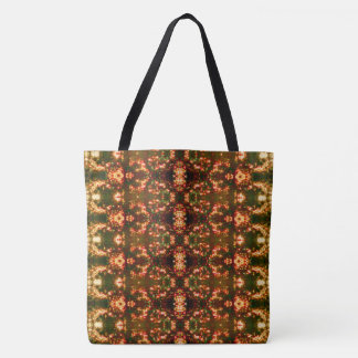 Sunrise Christmas Lights Pattern 8 Bright Large Tote Bag