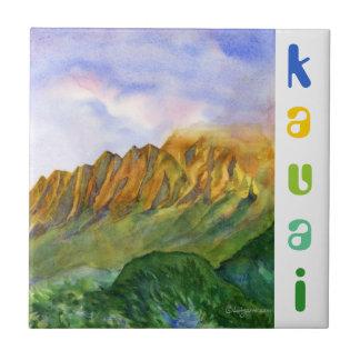 Sunrise Cliffs Kauai Hawaii Tile