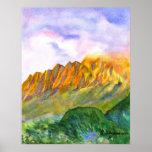 Sunrise Cliffs Kauai Print and Poster