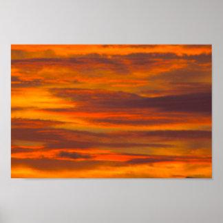 Sunrise Clouds, Florida Poster