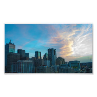 Sunrise Clouds over Dallas, Texas Photo Print