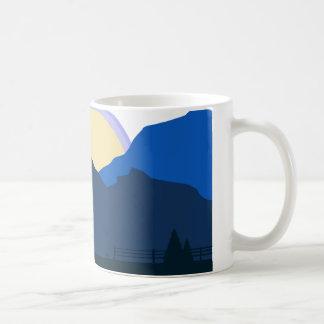 Sunrise countryside coffee mug