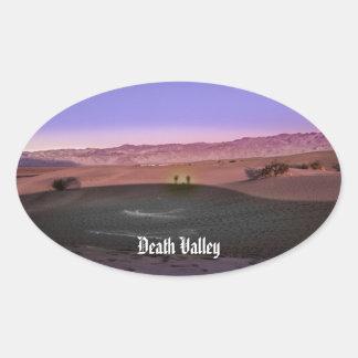 Sunrise Death Valley National Park Oval Sticker