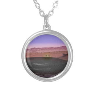 Sunrise Death Valley National Park Silver Plated Necklace