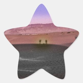 Sunrise Death Valley National Park Star Sticker