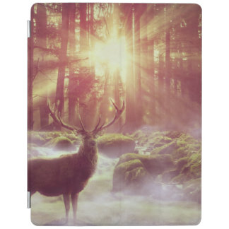 Sunrise Deer in Woods iPad Cover