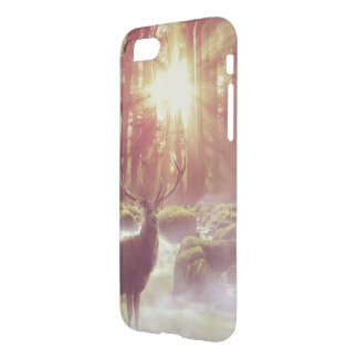 Sunrise Deer in Woods Transparent Cellphone Case