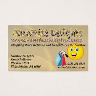 SunRise Delights Business Card