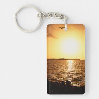 Sunrise Double-Sided Rectangular Acrylic Keychain