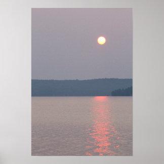 Sunrise, Elk Lake, Michigan. Poster