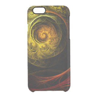 Sunrise Floral Red Abstract Art Clear iPhone 6/6S Case