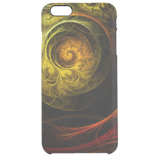Sunrise Floral Red Abstract Art Clear iPhone 6 Plus Case