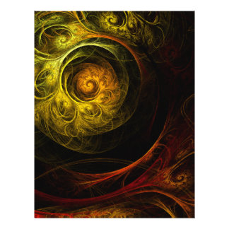 Sunrise Floral Red Abstract Art Flyer