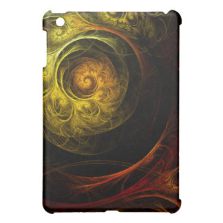 Sunrise Floral Red Abstract Art iPad Mini Cases