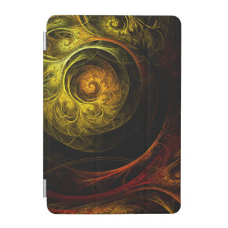 Sunrise Floral Red Abstract Art iPad Mini Cover