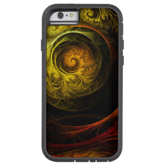 Sunrise Floral Red Abstract Art iPhone 6 Case