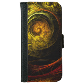 Sunrise Floral Red Abstract Art iPhone 6 Wallet Case