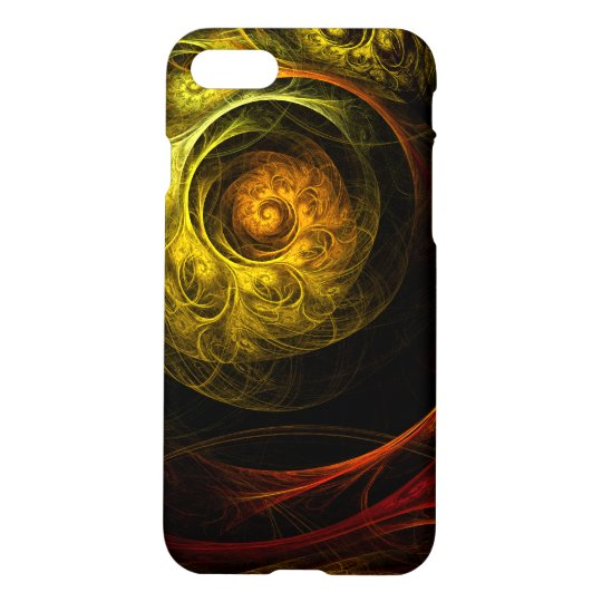 Sunrise Floral Red Abstract Art Matte iPhone 7 Case