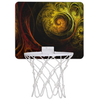 Sunrise Floral Red Abstract Art Mini Basketball Backboard