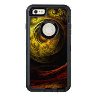 Sunrise Floral Red Abstract Art OtterBox iPhone 6/6s Plus Case