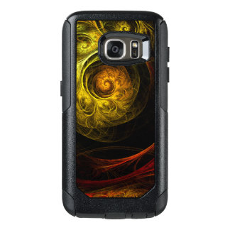 Sunrise Floral Red Abstract Art OtterBox Samsung Galaxy S7 Case