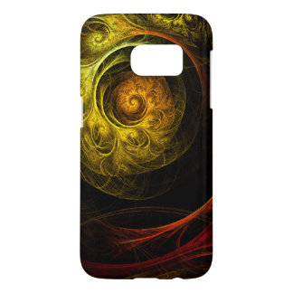 Sunrise Floral Red Abstract Art Samsung Galaxy S7 Case