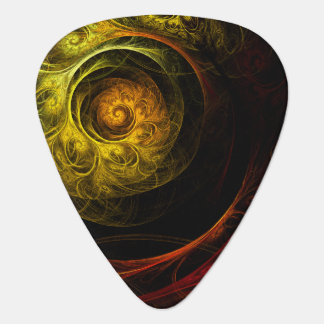 Sunrise Floral Red Abstract Art Standard Guitar Guitar Pick