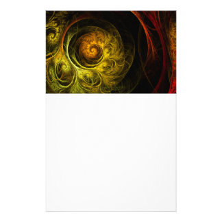 Sunrise Floral Red Abstract Art Stationery