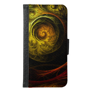 Sunrise Floral Red Abstract Art Wallet Case