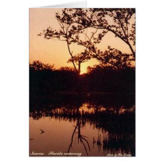 Sunrise - Florida waterway Card