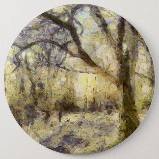 Sunrise Forest Art 6 Inch Round Button