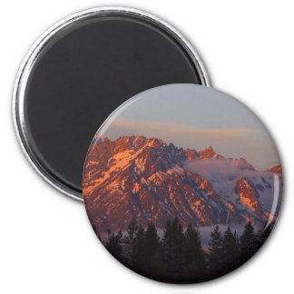 Sunrise From Colter Bay 2 Inch Round Magnet