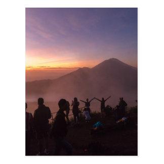 Sunrise from Mount Batur in Bali, Indonesia Postcard