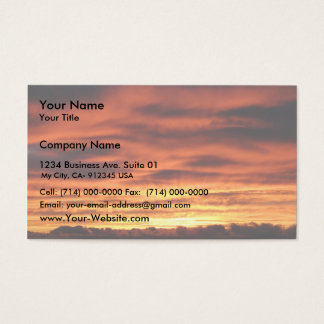 Sunrise From Mt. Baw Baw Vic.Australia Business Card