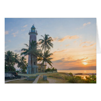 Sunrise, Galle lighthouse Card