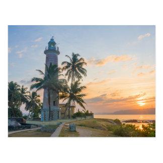 Sunrise, Galle lighthouse Postcard