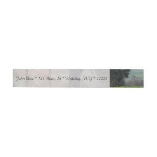 Sunrise Golfer Wraparound Address Label