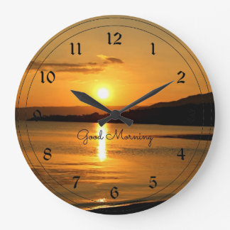 Sunrise - Good Morning Large Clock