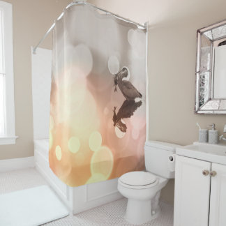 Sunrise Great Blue Heron Reflection Shower Curtain
