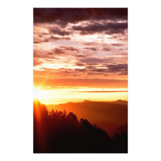 Sunrise Great Smoky Mountains Stationery
