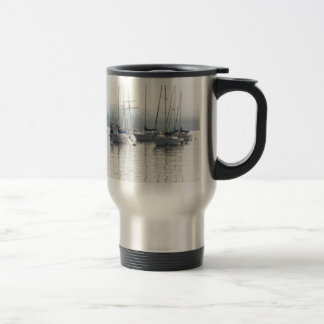 Sunrise Harbor Sailboats Mug