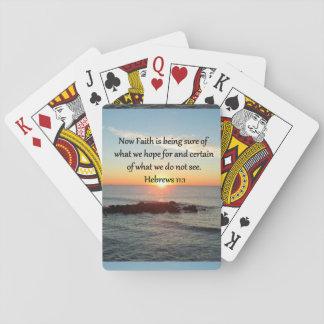 SUNRISE HEBREWS 11:1 PHOTO DESIGN PLAYING CARDS