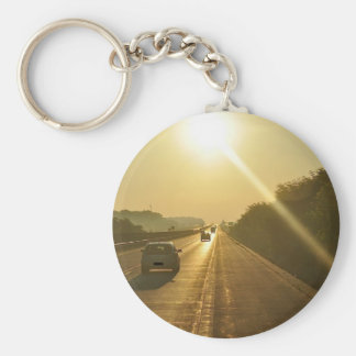 SUNRISE Highway travel cars automobiles driving Key Chains