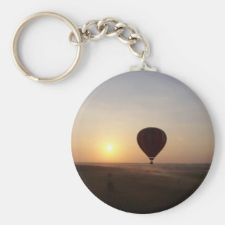 Sunrise Hot Air Balloon photographic image Key Chains