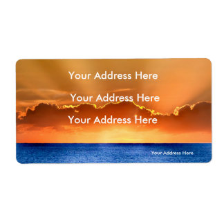 Sunrise image for Shipping-Labels Shipping Label