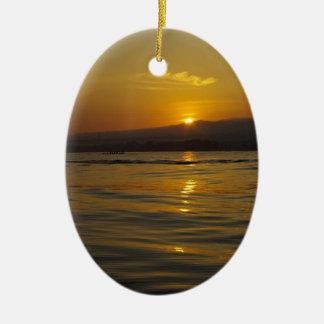 Sunrise in Bali island Ceramic Ornament