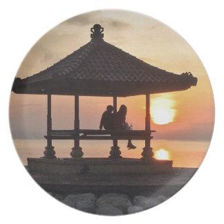 Sunrise in Bali Plate