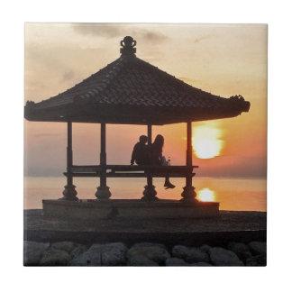 Sunrise in Bali Tile